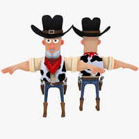 3ds max cartoon cowboy