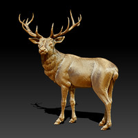 sculpture deer 3d 3ds