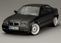 3d 3 series bmw e36 model