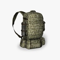 soldier backpack 3d obj