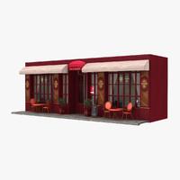 france restaurant hotel 3d model