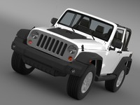 jeep wrangler mountain 2012 3d model