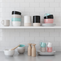 3d pack kitchenware scene kitchen interior