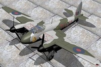 3d model of mosquito fighter fbvi