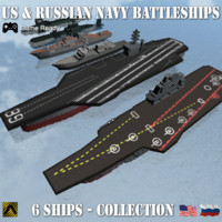 USS & Russian Navy Modern Warship Collection