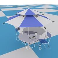 maya beach parasol set