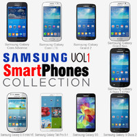 3d samsung smartphones v1 phones model