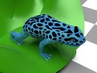 blue frog 3d obj