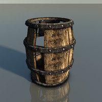 3d model prop barrel