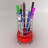 pen rack 3d model