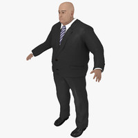 old business man 3d model