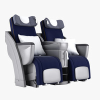 3d business class seat model