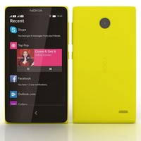 3d nokia x yellow