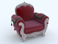 3d model of classic chair