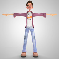 3ds max hero boy cartoon