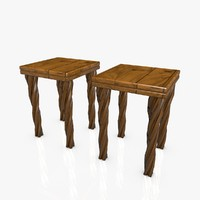 wooden chairs 3d 3ds