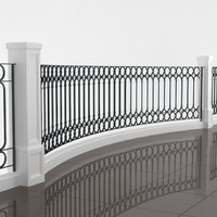 classic balcony railing 3d model