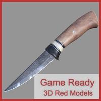 3d hunting knife model