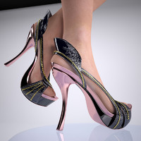3d model heels shoe female