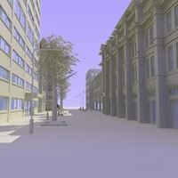 shops street 2 3d model