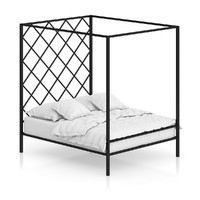 max metal large bed