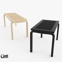3d artek benches model