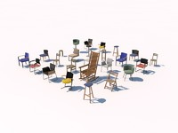 chair pack 3d 3ds