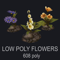 3ds max flowers set