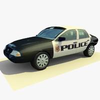 3d model of police car