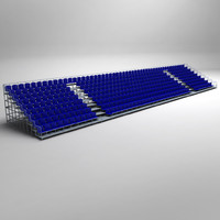 stadium seating tribune 3d x