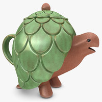 turtle teapot 3d 3ds