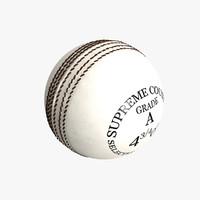 3ds max white cricket ball