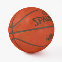 3d basketball spalding model
