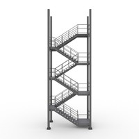 3d model industrial stairs