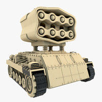 3d mobile missile launcher