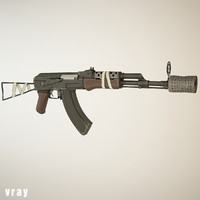 ready cartoon ak47 3d model