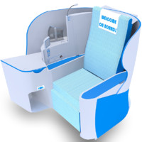 3d realistic class airplane seat
