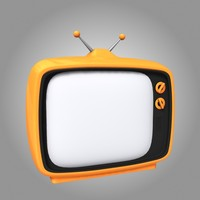 cartoon television 3d model