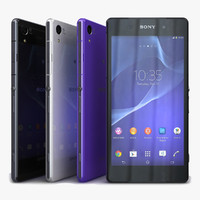 3d model sony xperia z2 color