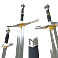 sword kit dagger 3d model