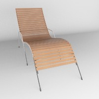 deck chair 3d max