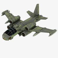 Cartoon Fighter Aircraft 1