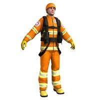 rescue guard 3d model