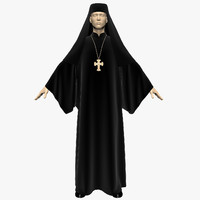 dress priest 3d model