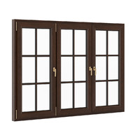 3d model openable wooden window 2270mm