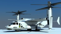 3d model of v-22 osprey