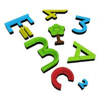 3ds modern colorful letter number