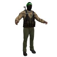 3d model of hamas terrorist
