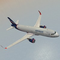 sharkleted a320neo aeroflot 3ds