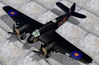 war bristol beaufighter 3d lwo